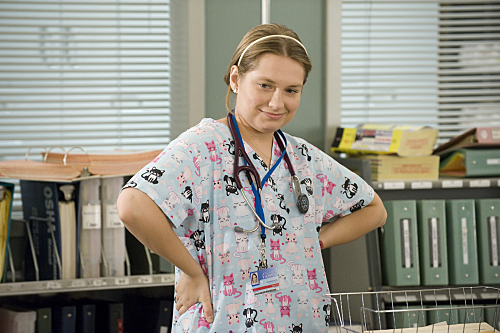 Merritt Wever as Zoey in Nurse Jackie (Season 2, Episode 9) - Photo: David Russell/Showtime -