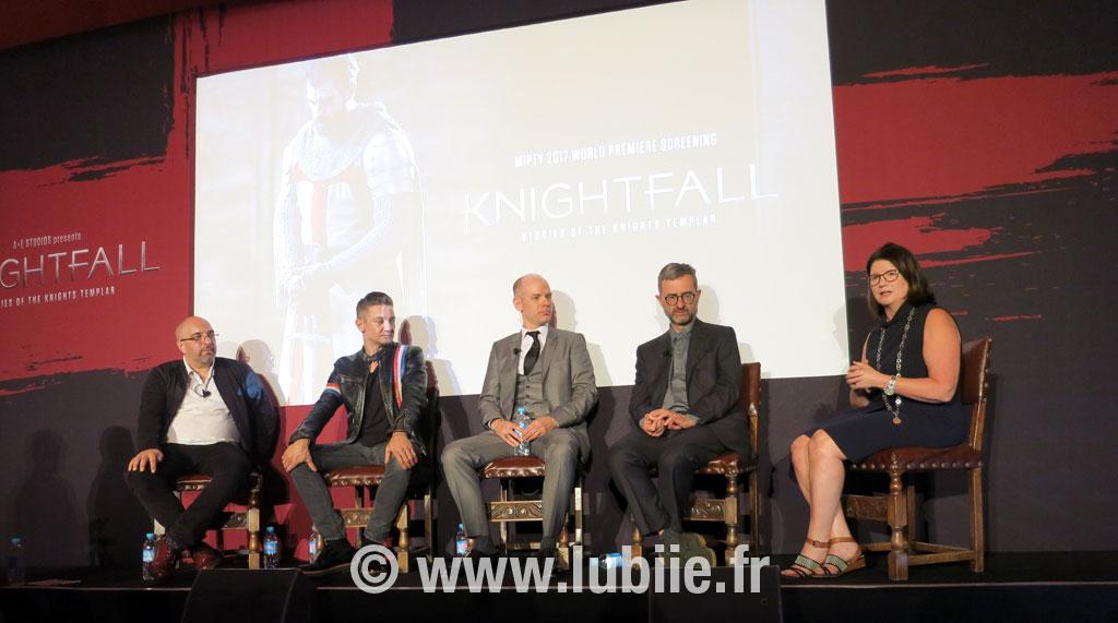 knightfall producers jeremy renner