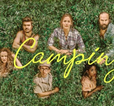 Camping series hbo avis jennifer garner david tennant