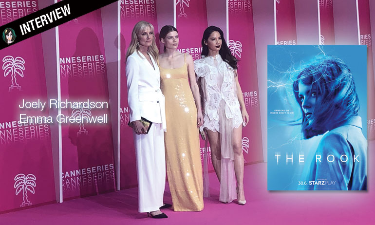 the rook interview video joely richardson emma greenwell