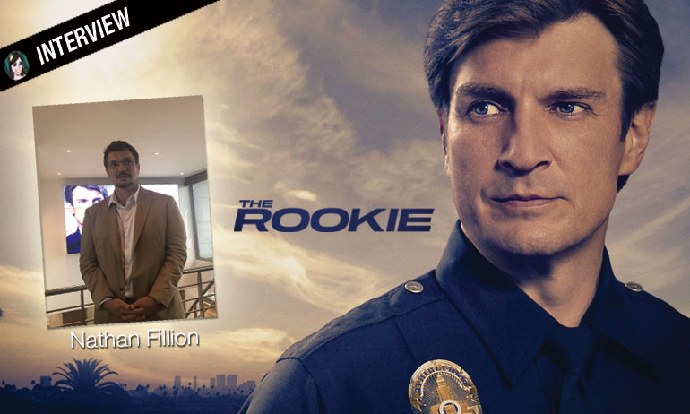 Interview avec un bleu Nathan Fillion est THE ROOKIE !