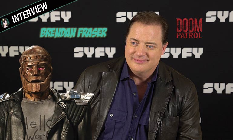 brendan fraser robotman doom patrol interview series syfy dc comics