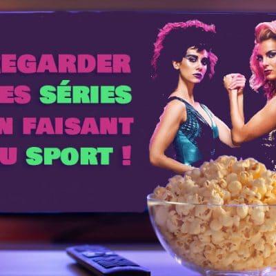 regardant des séries faisant du sport