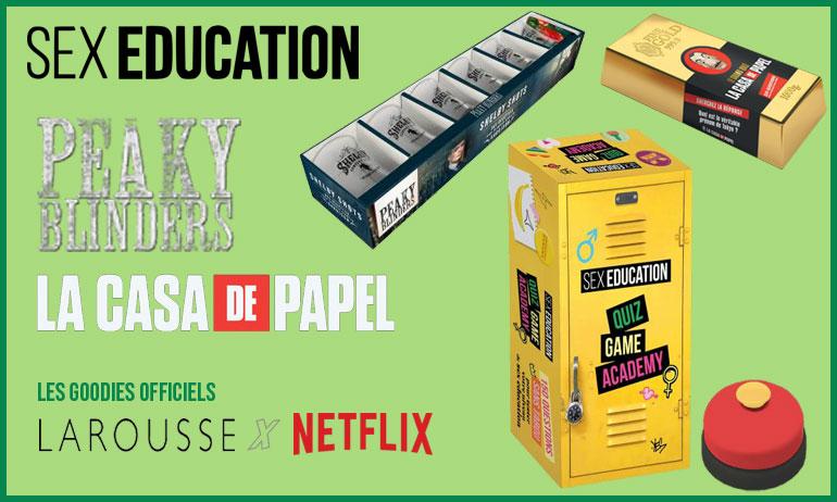sex education la casa de papel peaky blinders goodies idées cadeaux séries netflix