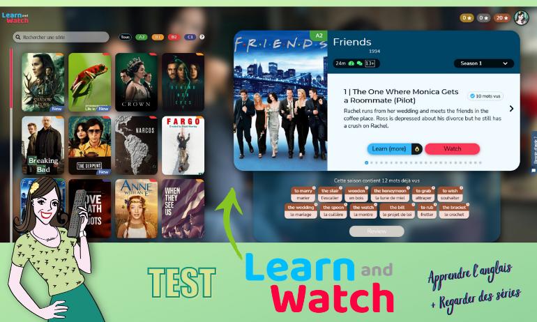 learn and watch apprendre des séries en regardant des séries